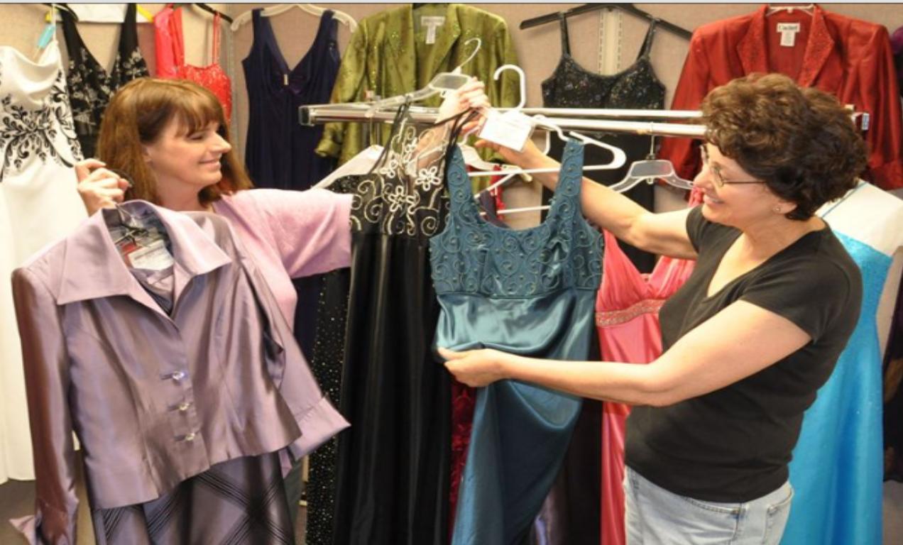 selecting a dress